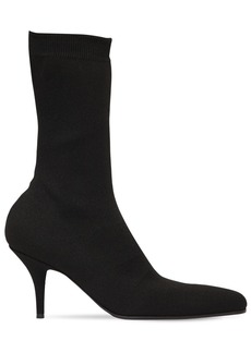 Balenciaga 80mm Round Toe Knit Ankle Boots