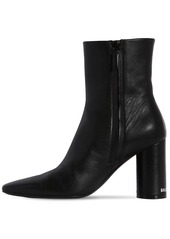 Balenciaga 90mm Oval Leather Ankle Boots