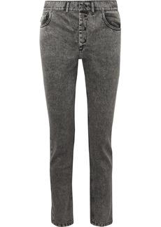 Balenciaga Acid-wash High-rise Straight-leg Jeans