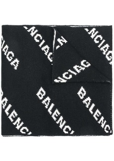 Balenciaga all-over logo scarf