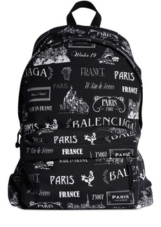 Balenciaga All Over Printed Nylon Backpack