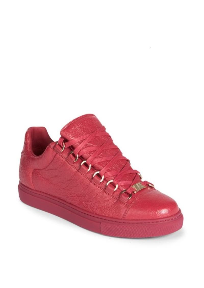 57c8e6683a75 Balenciaga Arena Leather Low-Top Sneakers