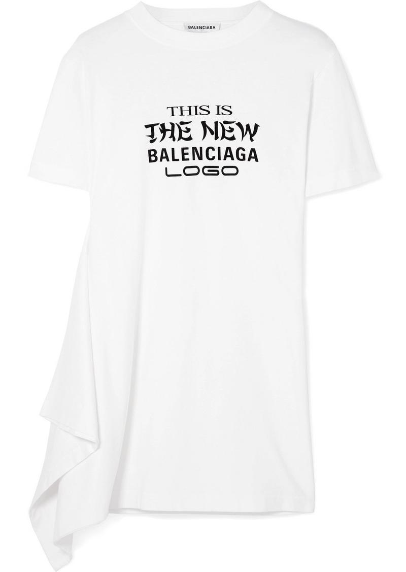 5fd3e442ab13 Balenciaga Printed Cotton T Shirt Dress | Azərbaycan Dillər Universiteti
