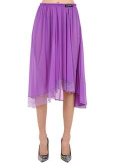 Balenciaga Asymmetric Tech Jersey Midi Skirt