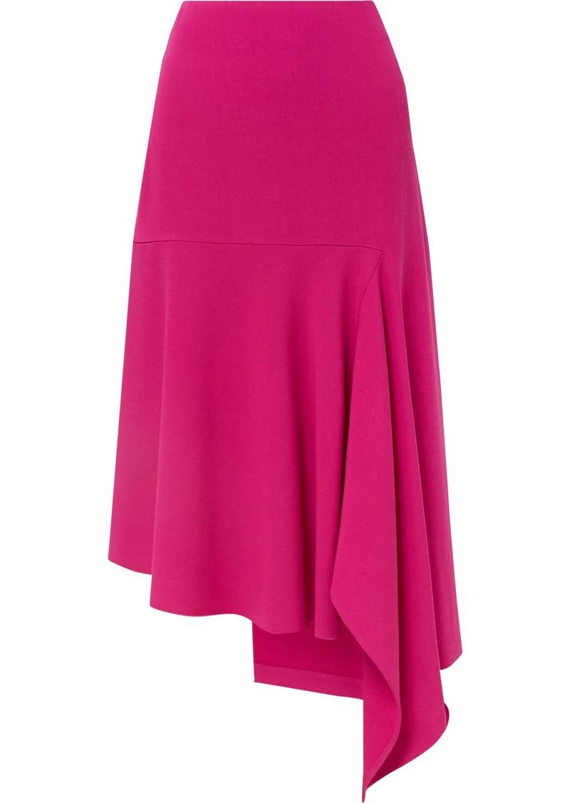 Balenciaga Asymmetric Wool-blend Midi Skirt