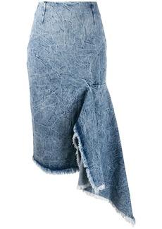 Balenciaga asymmetrical godet skirt