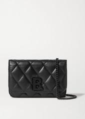 Balenciaga B Dot Quilted Leather Shoulder Bag