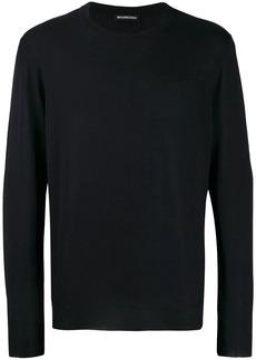 Balenciaga back signature logo knitted jumper