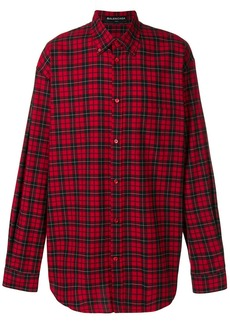 Balenciaga Bal plaid button down shirt