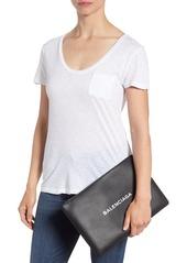 Balenciaga Balencia Large Everyday Leather Pouch