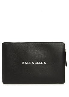Balenciaga Balencia Large Everyday Leather Pouch