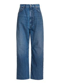 Balenciaga - Women's Baggy Rigid High-Rise Wide-Leg Jeans - Medium Wash - Moda Operandi