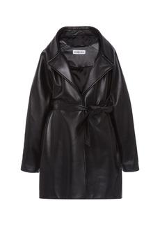 Balenciaga - Women's Oversized Leather Wrap Jacket - Black - Moda Operandi
