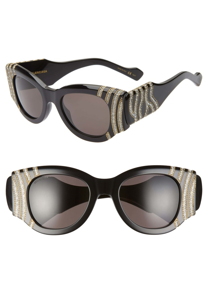 Balenciaga 50mm Cat Eye Sunglasses
