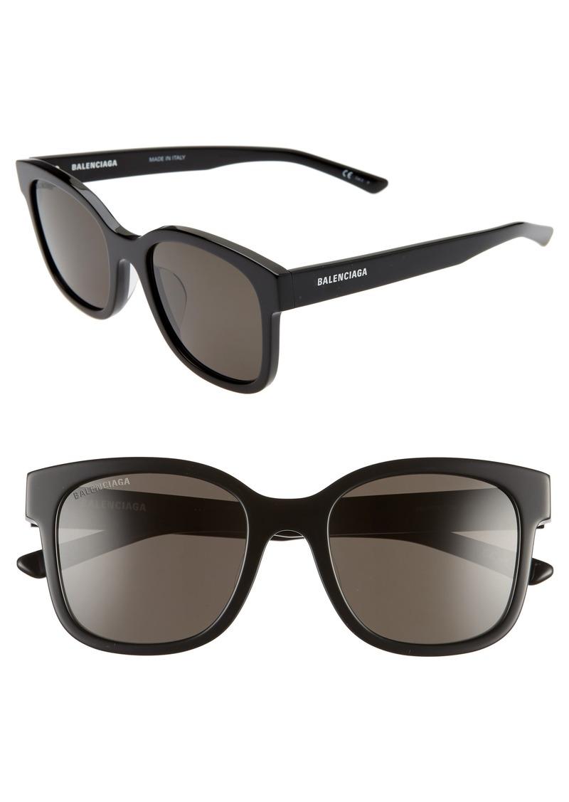 Balenciaga 52mm Polarized Square Sunglasses