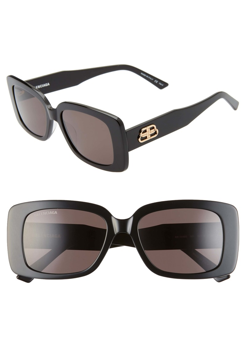 Balenciaga 52mm Rectangle Sunglasses