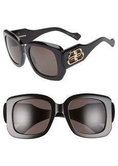 Balenciaga 53mm Square Sunglasses