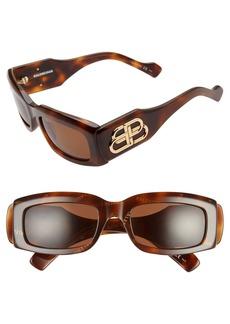 Balenciaga 54mm Gradient Rectangular Sunglasses
