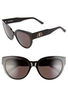 Balenciaga 55mm Cat Eye Sunglasses