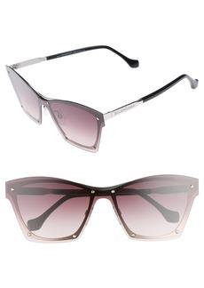 Balenciaga 55mm Frameless Sunglasses