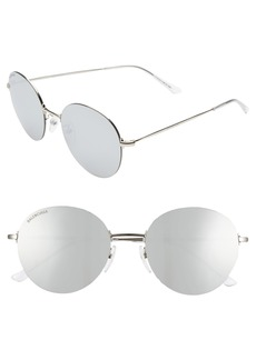 Balenciaga 55mm Round Sunglasses
