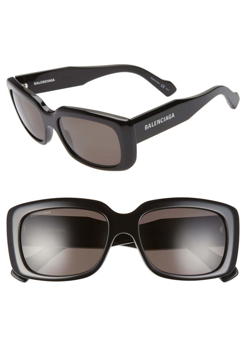 Balenciaga 56mm Rectangular Sunglasses