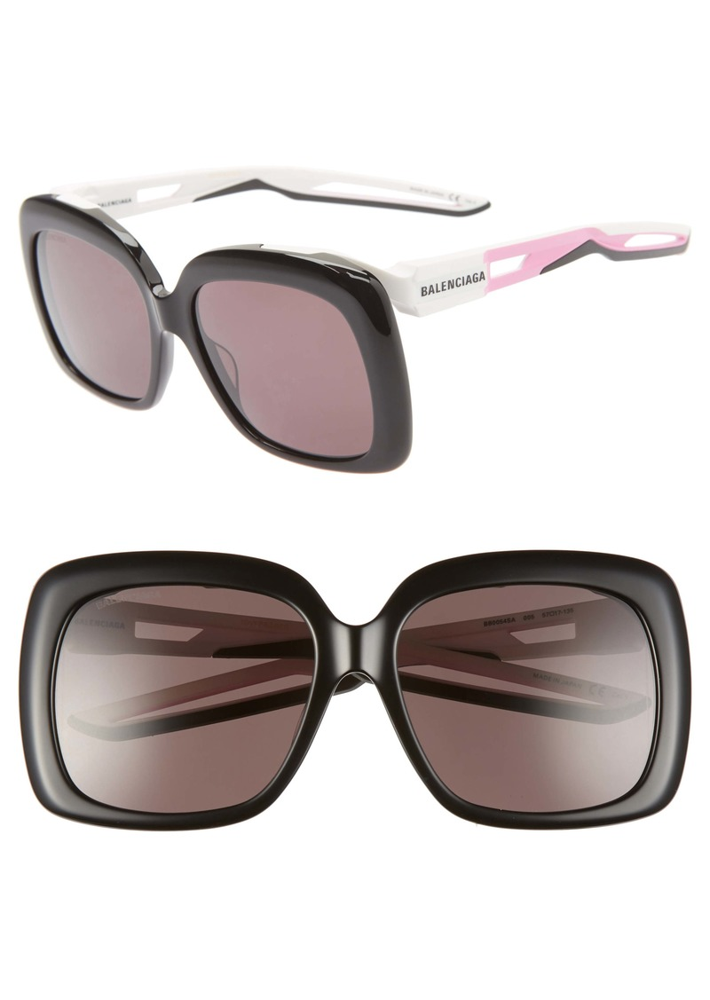 Balenciaga 57mm Square Sunglasses
