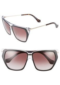 Balenciaga 58mm Gradient Sunglasses