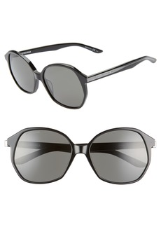 Balenciaga 58mm Round Sunglasses