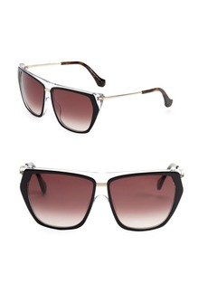 Balenciaga 58MM Square Sunglasses