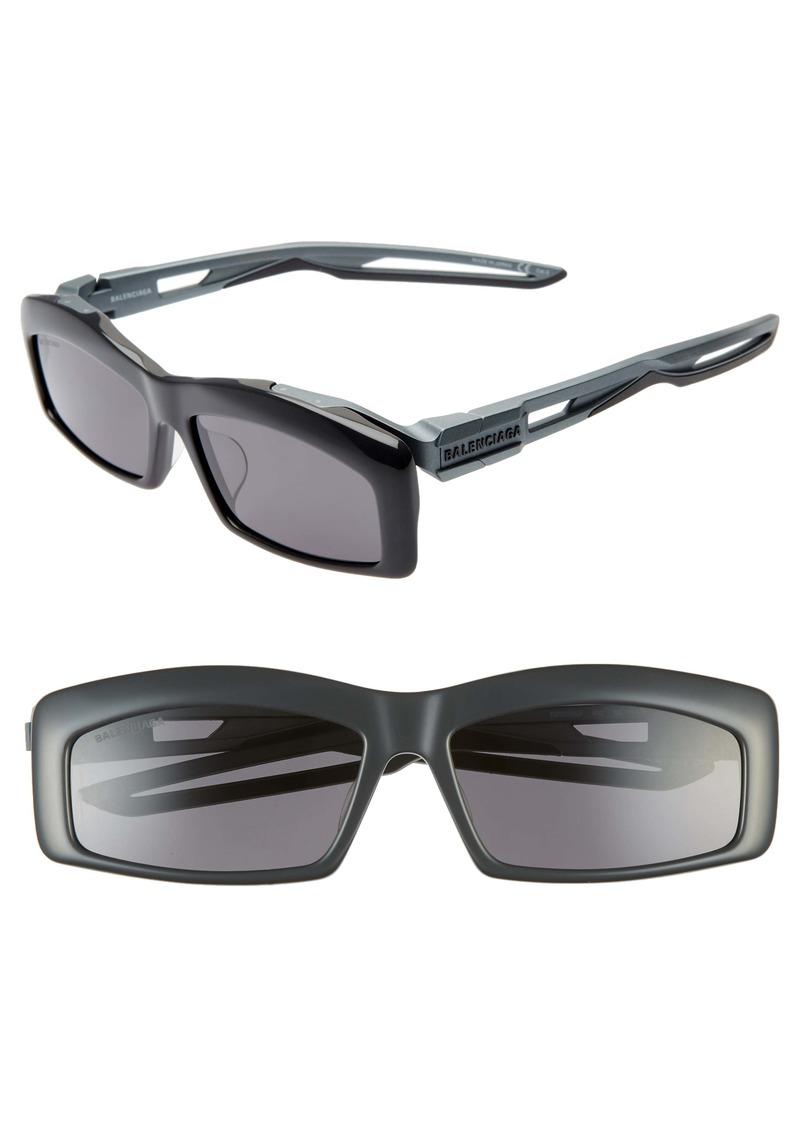 Balenciaga 59mm Rectangular Sunglasses