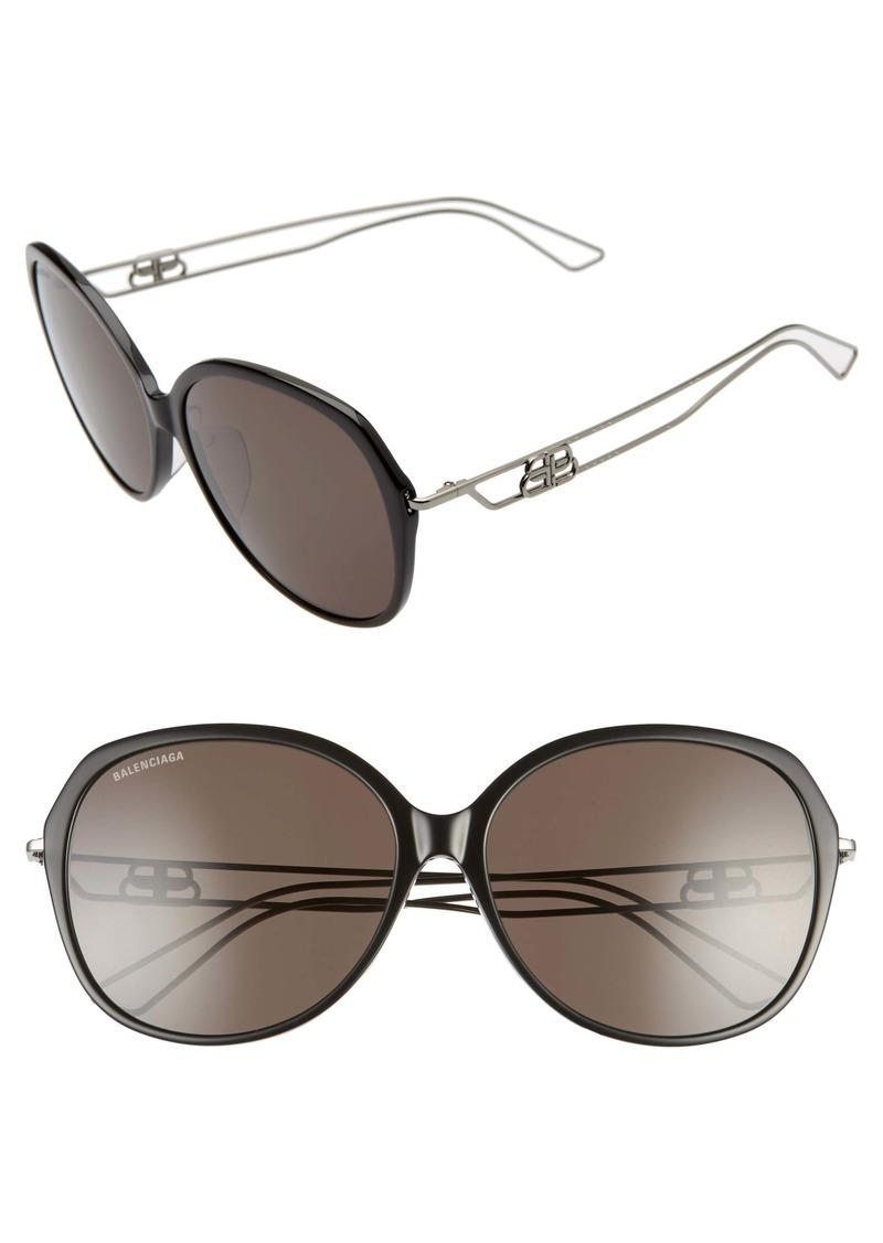 Balenciaga 59mm Round Sunglasses