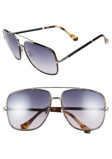 Balenciaga Paris 60mm Aviator Sunglasses