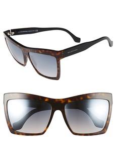 Balenciaga Paris 60mm Oversize Sunglasses