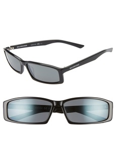 Balenciaga 60mm Rectangle Sunglasses
