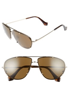 Balenciaga 62mm Aviator Sunglasses