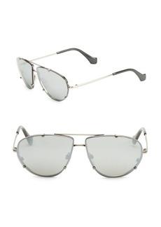 Balenciaga 62MM Mirrored Aviator Sunglasses
