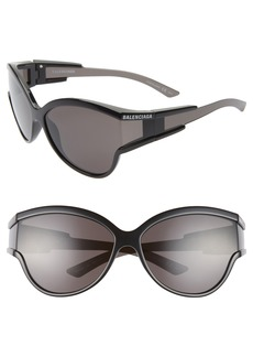 Balenciaga 63mm Oversize Cat Eye Sunglasses
