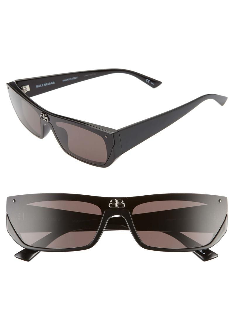 Balenciaga 99mm Rectangular Cat Eye Sunglasses