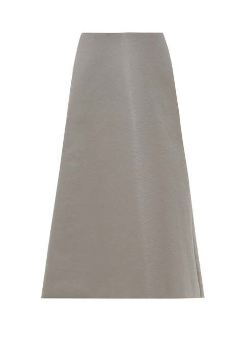 Balenciaga A-line faux-leather midi skirt