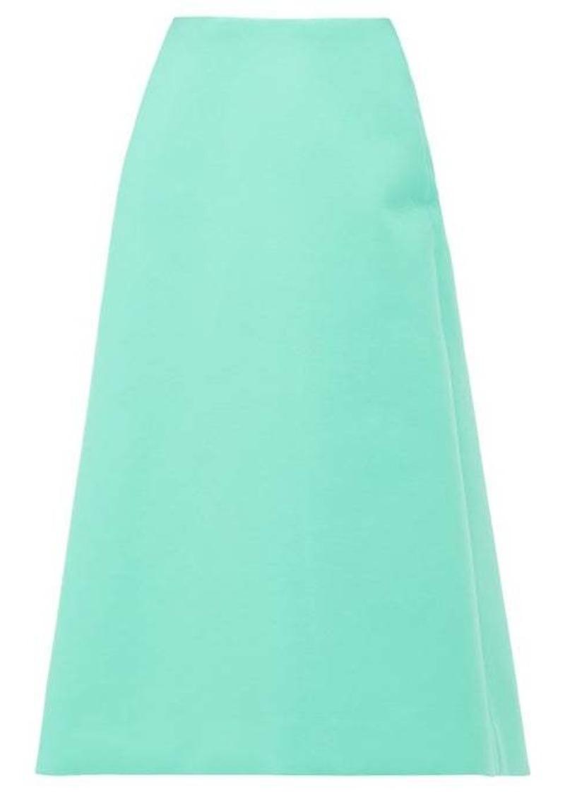 Balenciaga A-line faux-leather skirt