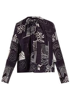 Balenciaga Abstract-print silk blouse