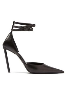 Balenciaga Ankle-strap pointed leather pumps