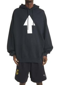 Balenciaga Arrow WiFi Medium Fit Men's Graphic Hoodie
