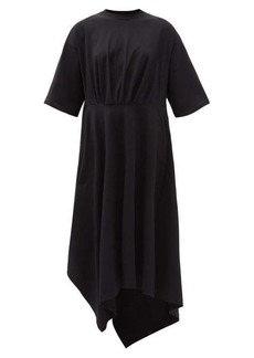 Balenciaga Asymmetric-hem cotton-jersey T-shirt dress