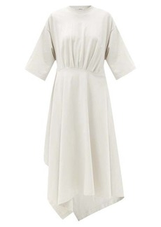 Balenciaga Asymmetric-hem washed cotton-jersey T-shirt dress