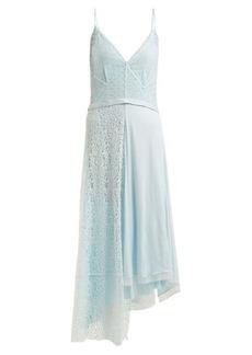 Balenciaga Asymmetric tie-waist lace slip dress