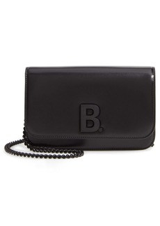 Balenciaga B Calfskin Leather Wallet on a Chain