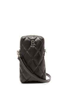 Balenciaga B-logo mini quilted-leather cross-body bag