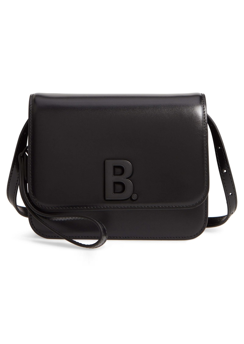 Balenciaga B Shiny Leather Crossbody Bag